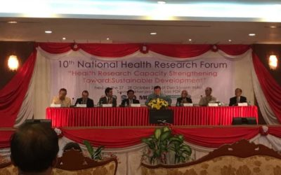 2016.10.27-28、第10回National Health Research Forumに参加しました。