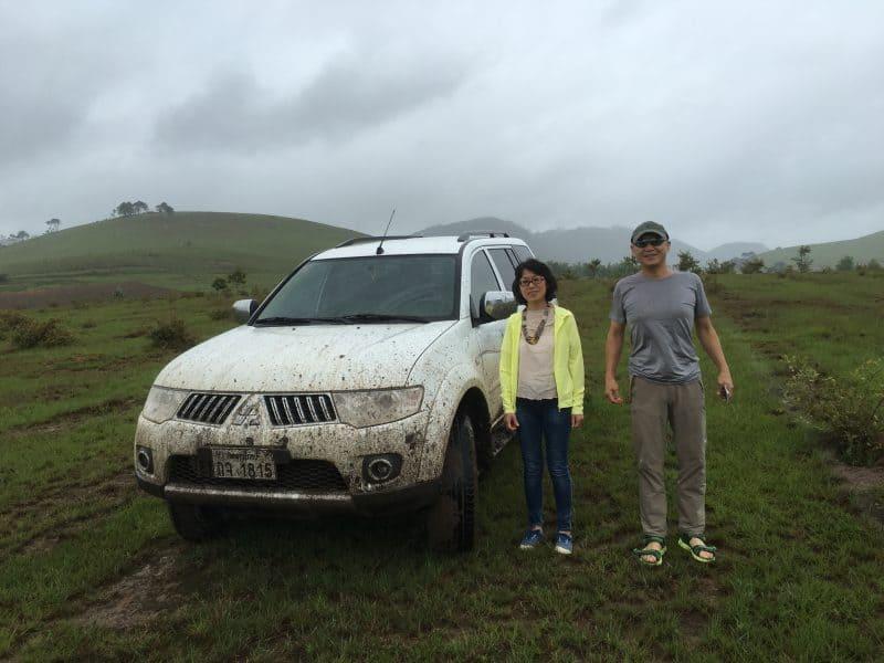 ラオス、シエンクワンの農場見学に行きました。